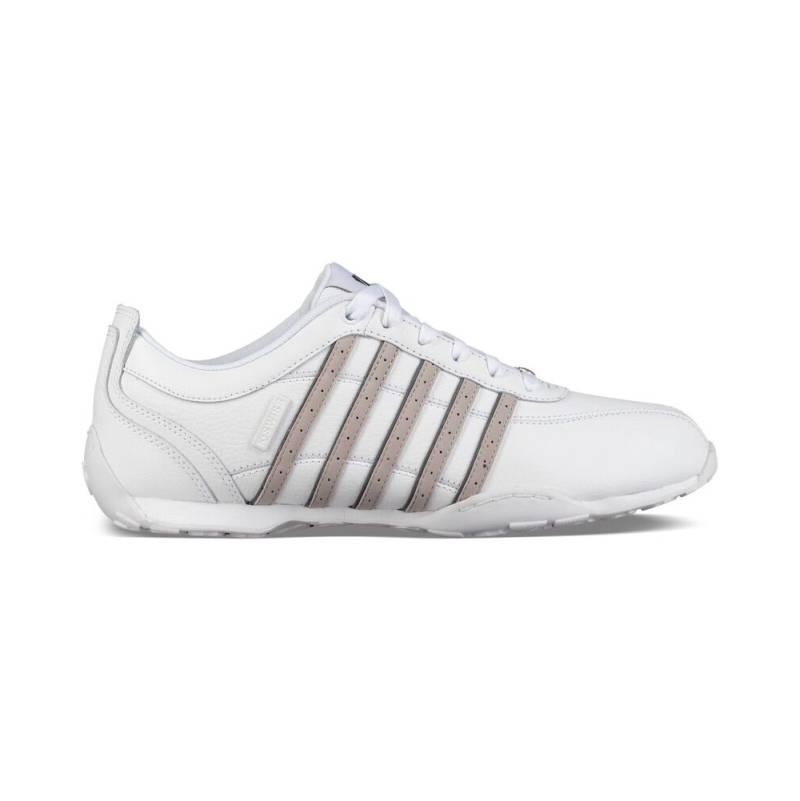 K-SWISS Arvee 1.5 Low Sneaker Schuhe weiß White Silver Cloud Grau Leder Herren