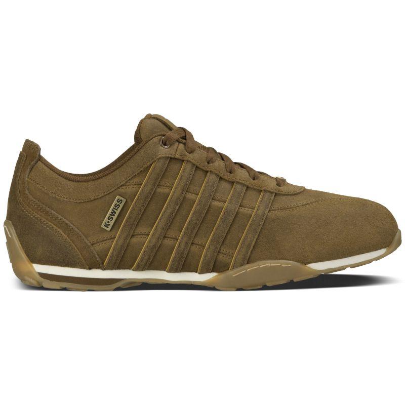 K-Swiss Arvee 1.5 Braun Gold Herren Sneaker Leder Freizeit Schuhe 02453236