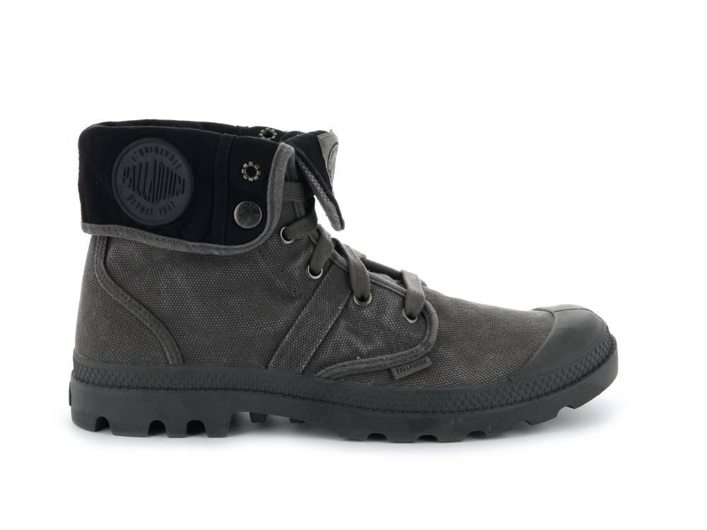 PALLADIUM Pallabrouse Baggy Sneaker Stiefellette schwarz grau Metal Black Herren