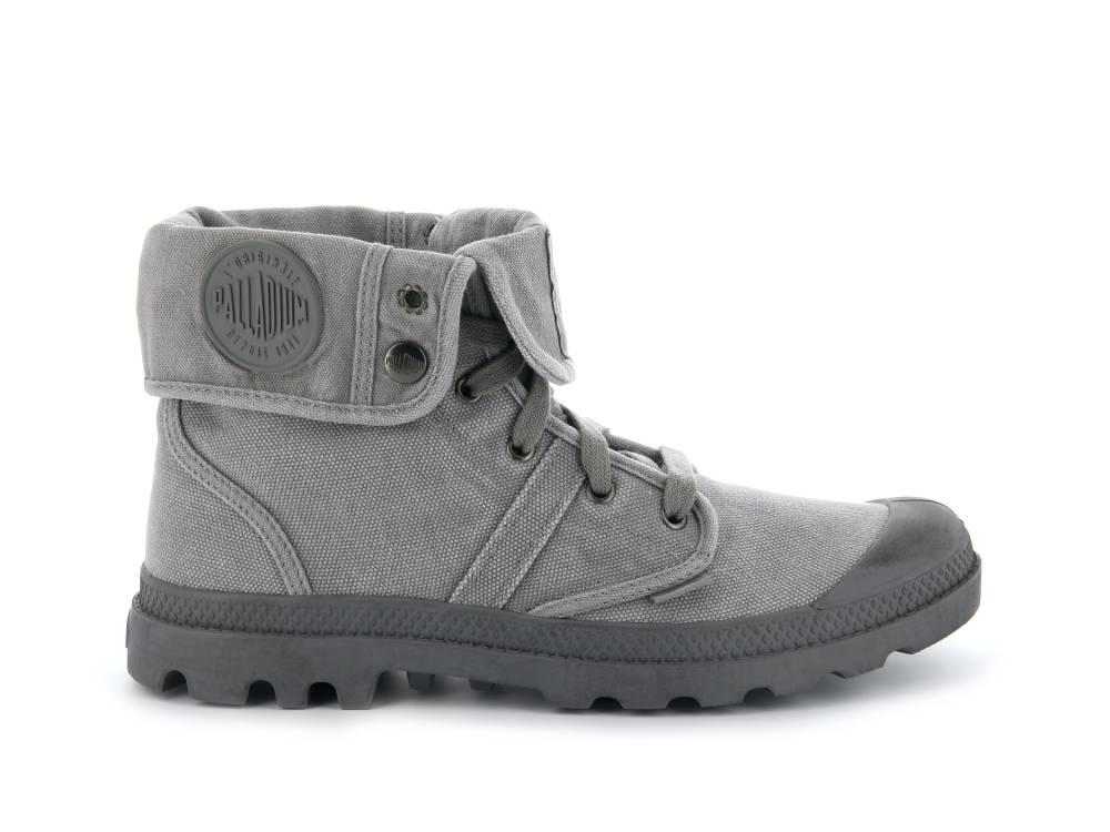 PALLADIUM Pallabrouse Baggy Sneaker Stiefellette grau Titanium High Rise Herren