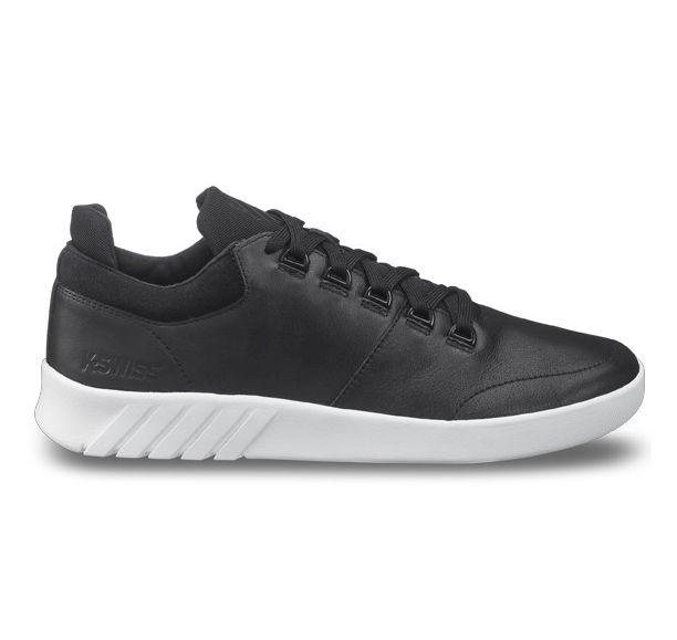 K-Swiss Aero schwarz Low-Cut Sneaker Freizeitschuhe Turnschuhe Leder
