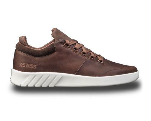 K-Swiss Aero braun Low-Cut Sneaker Freizeitschuhe Turnschuhe Leder