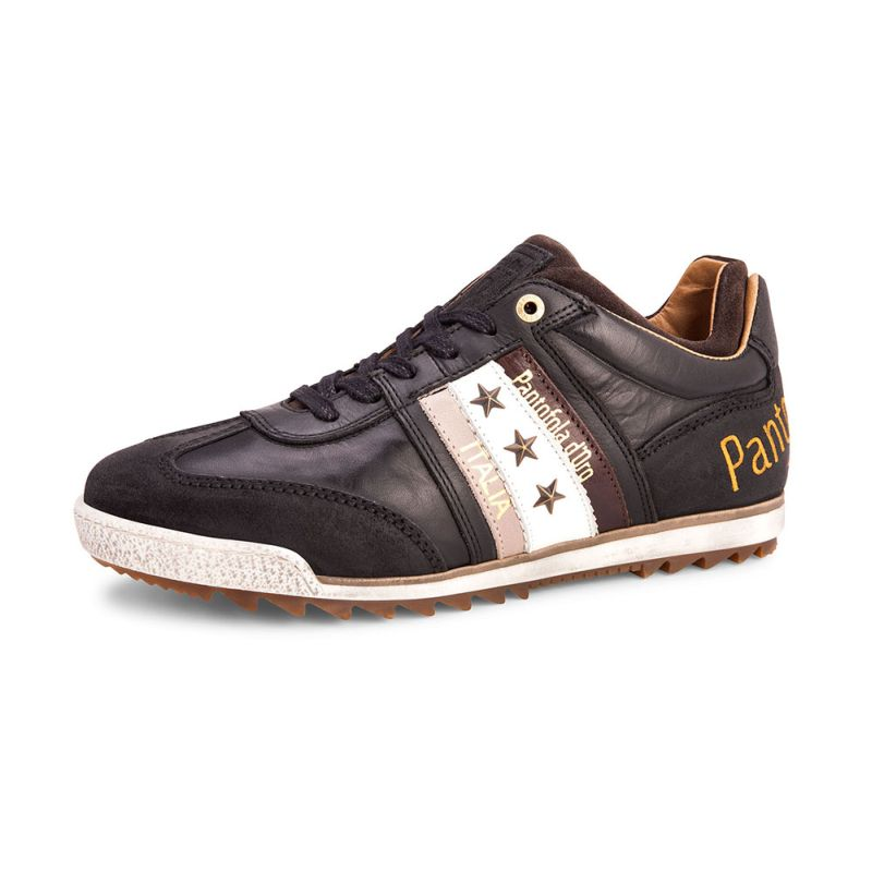 Pantofola d'Oro Imola Adesione Low Schwarz Herren Leder Sneaker 10163004.25Y
