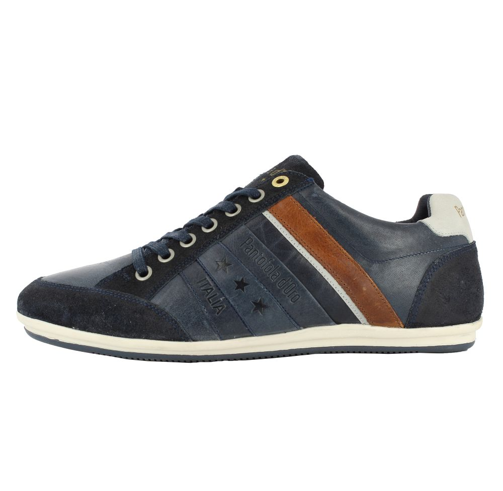 Pantofola d'Oro Allassio Low dunkelblau Leder Sneaker Schuhe Neu 10171014.29Y