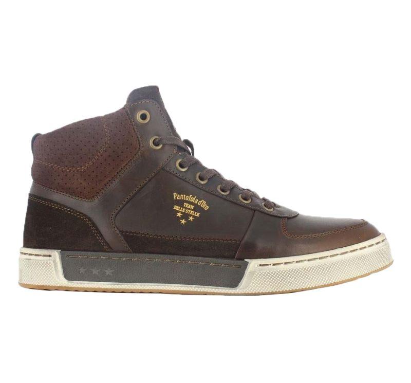 Pantofola d'Oro Frederico braun MID-Cut Sneaker Halbschuhe Schnürschuhe Leder