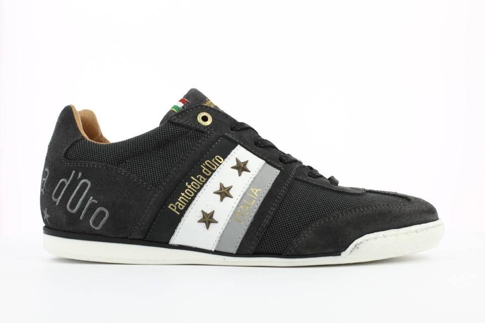 PANTOFOLA D'ORO Imola Canvas Uomo Low Sneaker Halbschuhe schwarz Black Leder