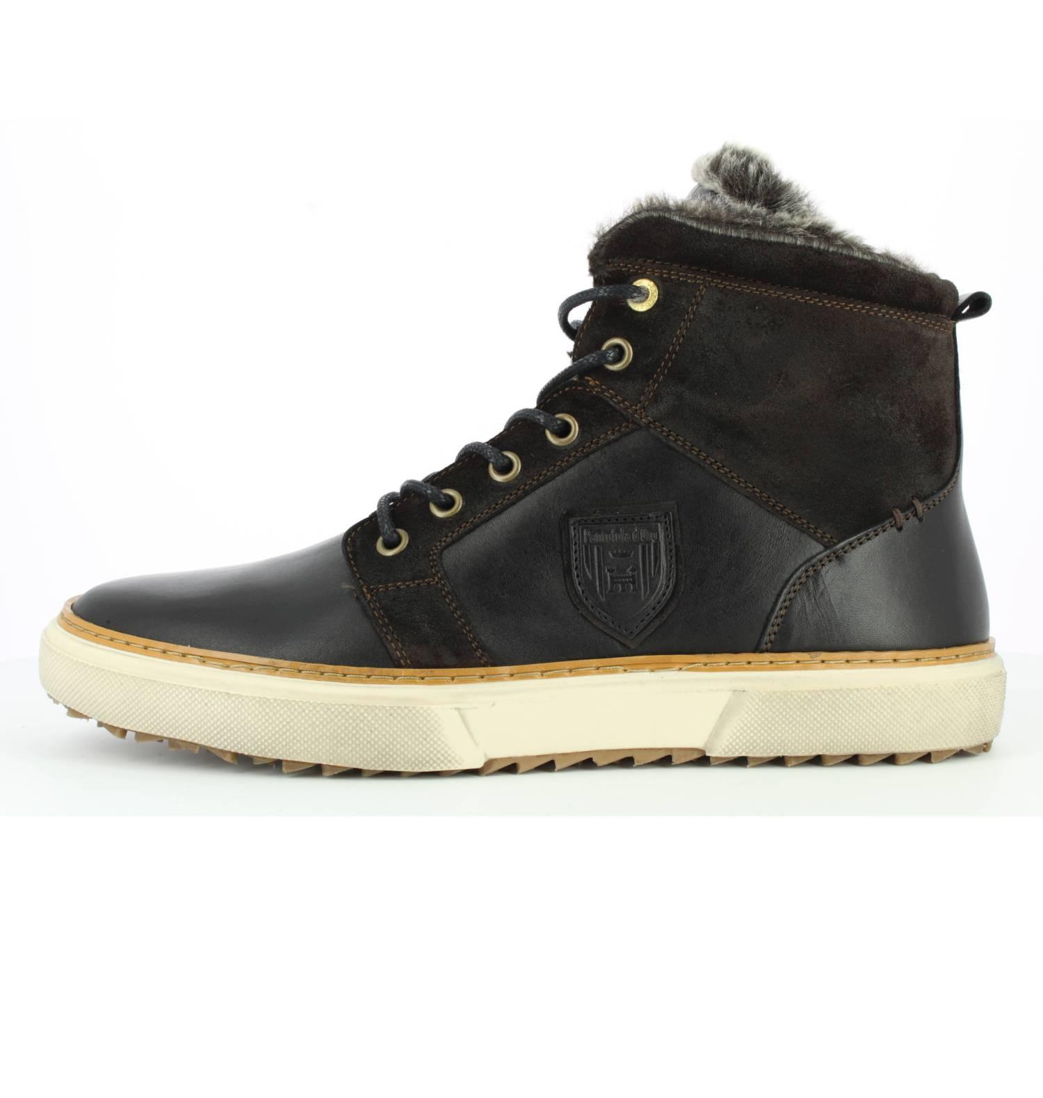 Pantofola d'Oro Benevento Uomo Fur Mid braun Coffee Bean Low-Cut Sneaker Herren