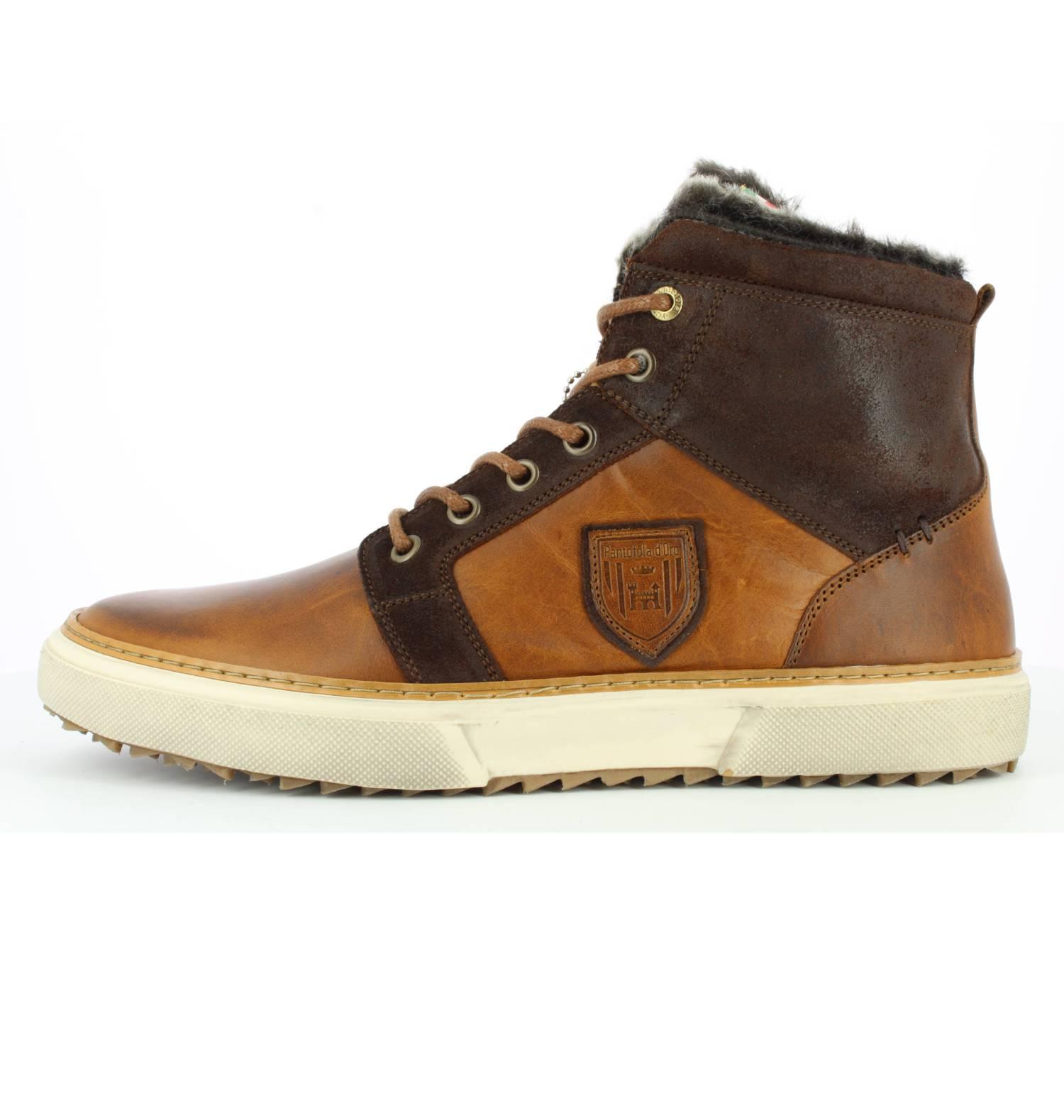 Pantofola d'Oro Benevento Uomo Fur Mid braun Tortoise Shell Low Sneaker Herren