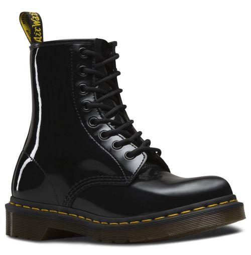 DR. MARTENS 1460 8-Loch Stiefel Schwarz Lackleder Boots 11821011