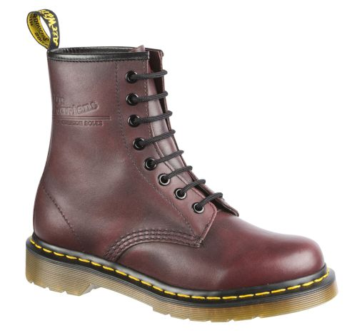 DR. MARTENS 1460 8-Loch Stiefel Rot Leder Boots 11821602