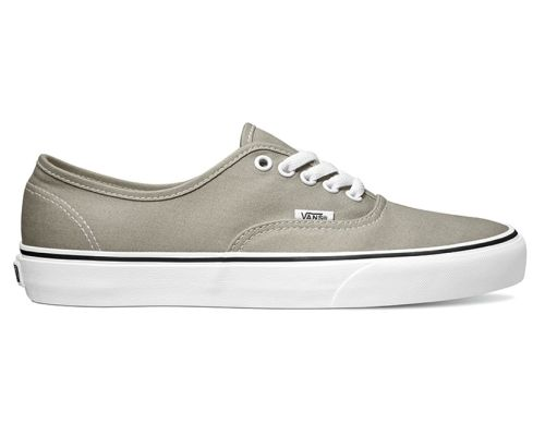 Vans Authentic Grau Beige Canvas Sneaker Schuhe 18BH1I