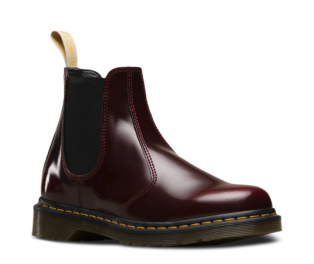 Dr. Martens 2976 Chelsea Boot Vegan rot cherry red cambridge brush Stiefelette