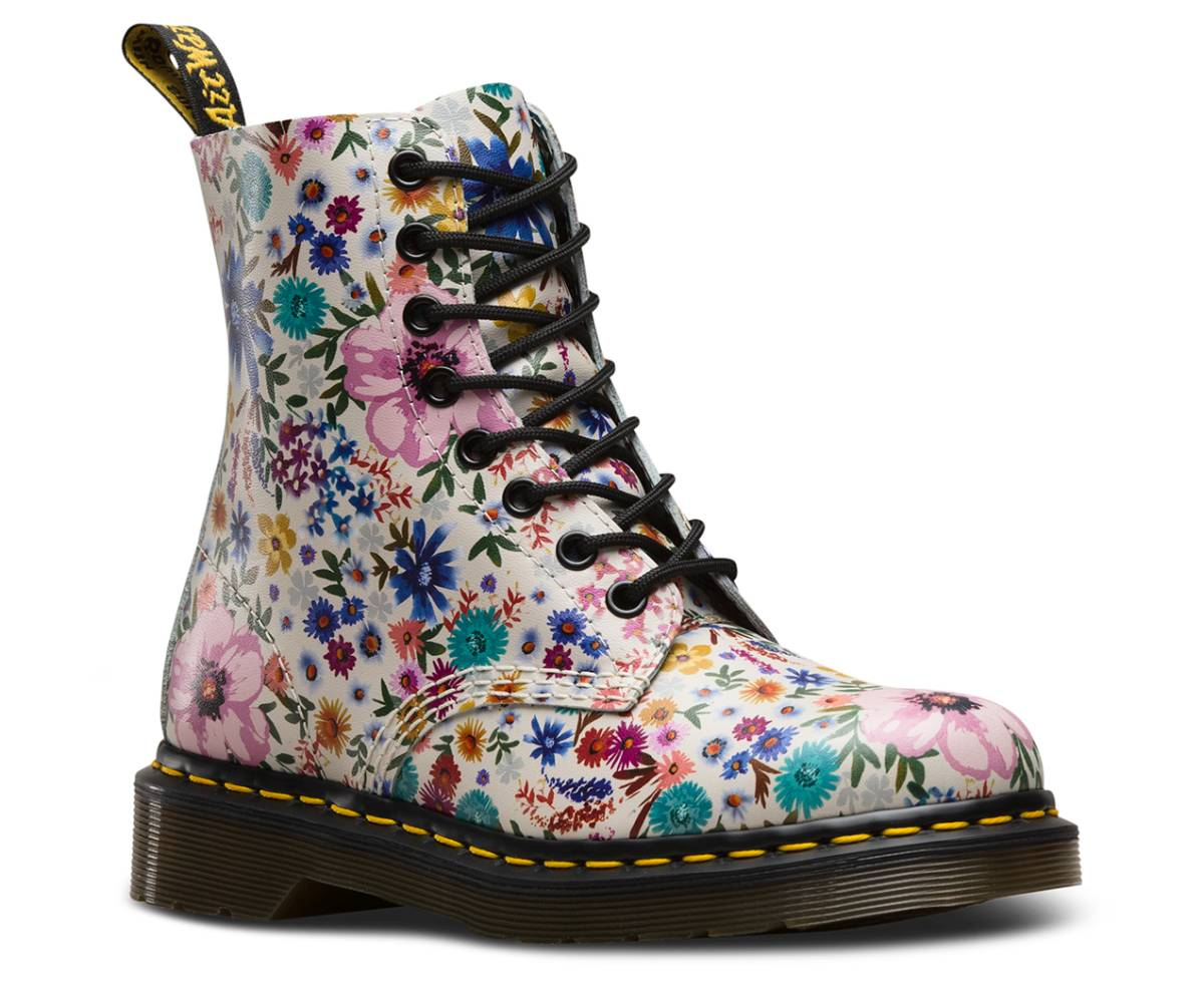 DR. MARTENS 1460 8-Eye Boot Schuhe Schnürstiefel Stiefel Glattleder Textil Schuhe Boot 78d2c1