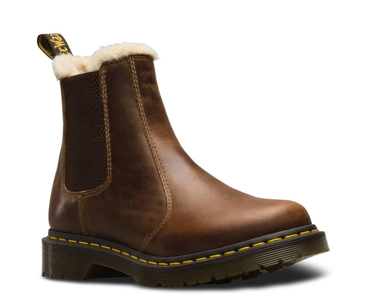 Dr. Martens 2976 Leonore Chealsea Boot braun butterscotch orleans Stiefelette