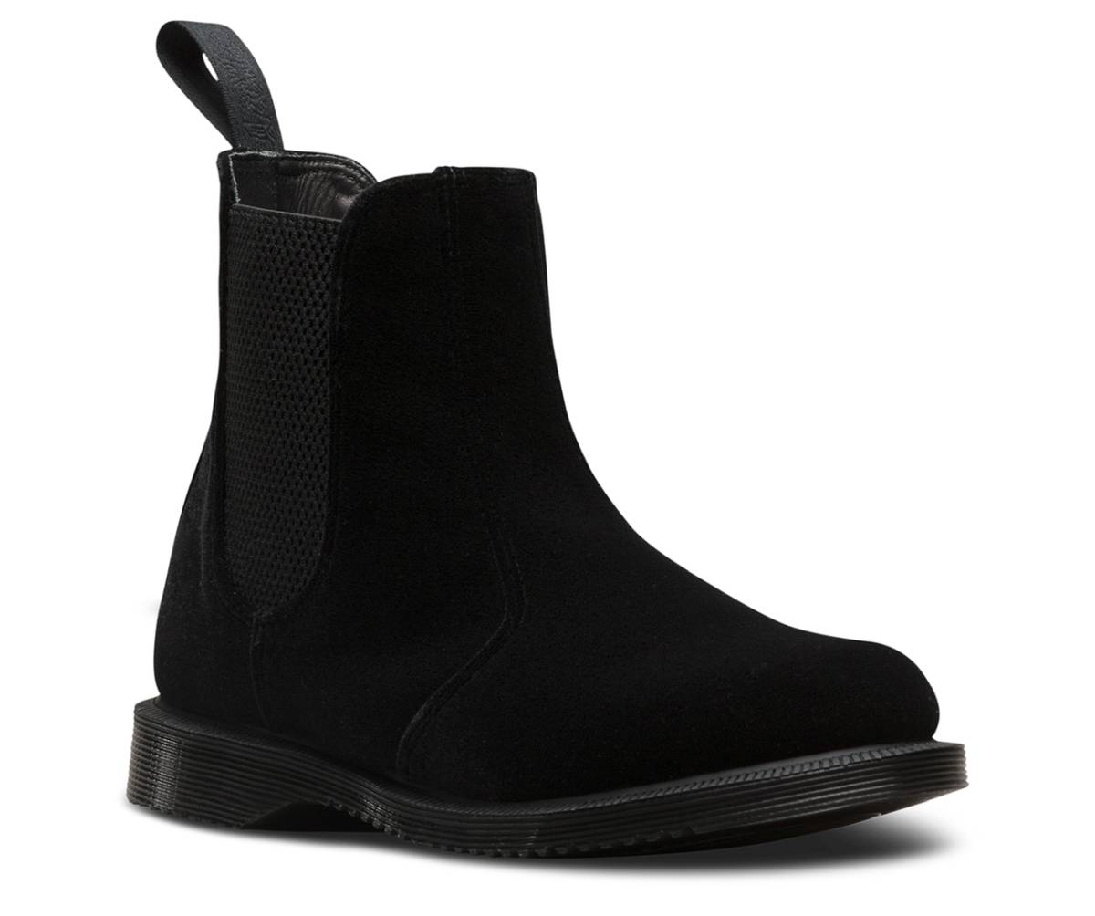 Dr. Martens Flora Velvet schwarz black Schuhe Kensington-Stiefelette Boots
