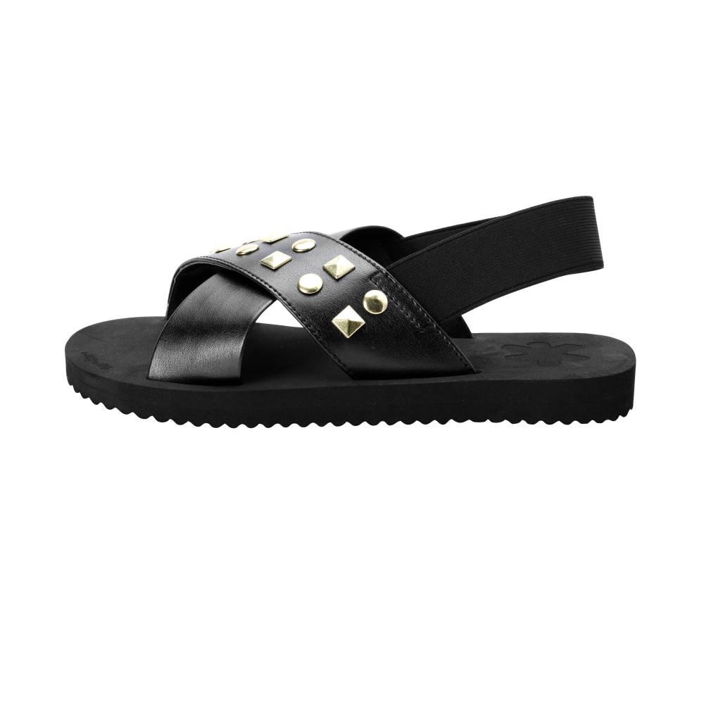 FLIP*FLOP Cross Sandal Rivet Sandalen schwarz black PU Elastic Nieten EVA Damen