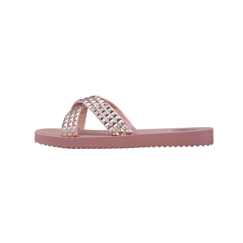 FLIP*FLOP Cross Tile Sandalen Rosa ballet Gummi Strasssteine EVA Damen Schuhe