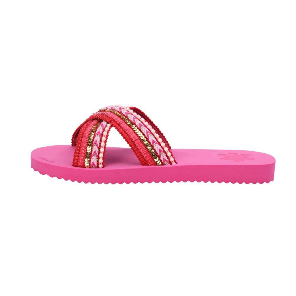 FLIP*FLOP Cross Ibiza Sandalen Freizeitschuhe very pink Cotton EVA Damen