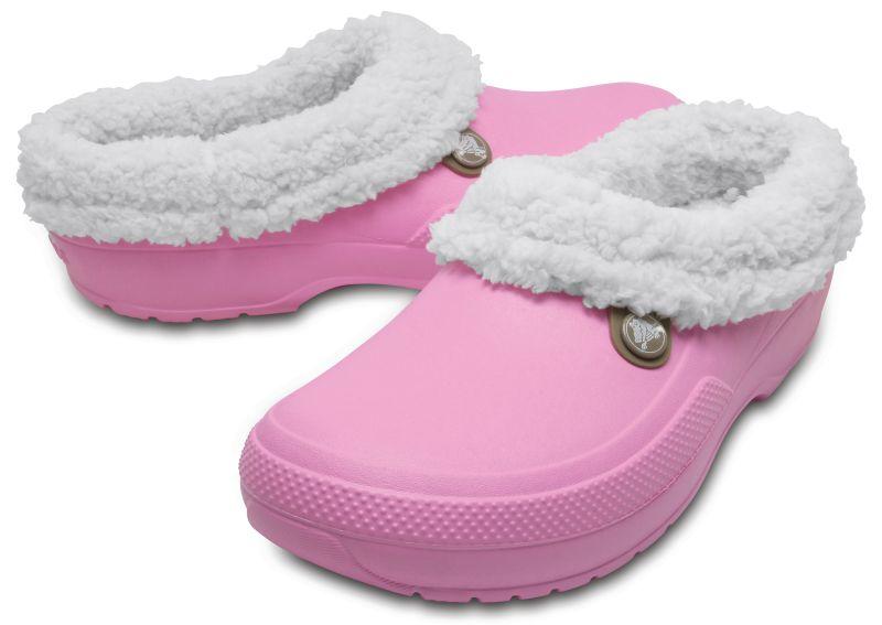 Crocs Blitzen 3 rosa gefüttert Clogs Hausschuhe Gartenschuhe Freizeitschuhe