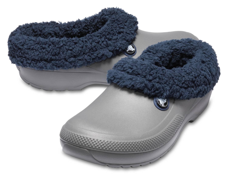 Crocs Blitzen 3 grau navyblau slate grey navy Clogs Hausschuhe Gartenschuhe