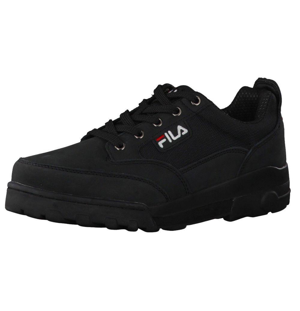 Fila Grunge Low schwarz Leder Textil Sneaker Schuhe Neu 4010237.25Y