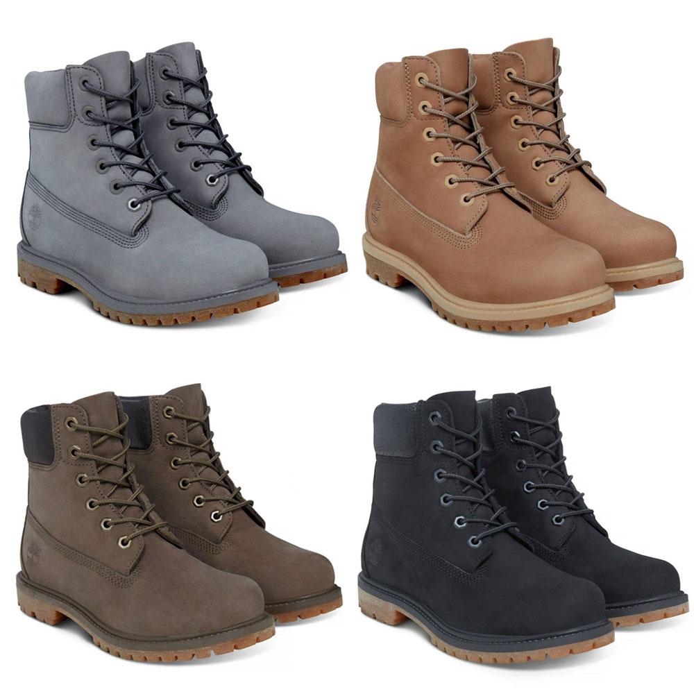 Timberland 6-Inch Premium Boot Damen Schnürstiefel Boots Premium-Nubukleder