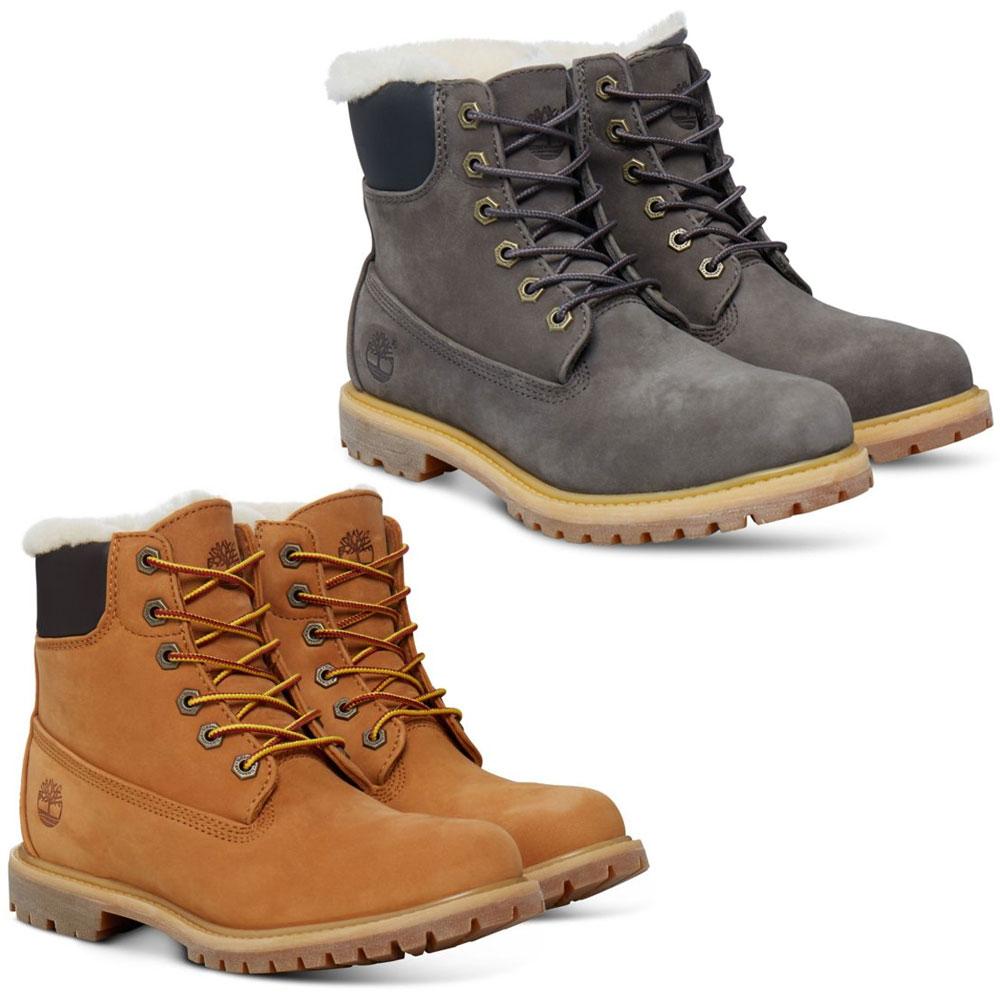Timberland 6-Inch Premium Shearling Schnürstiefel Boots Premium-Nubukleder