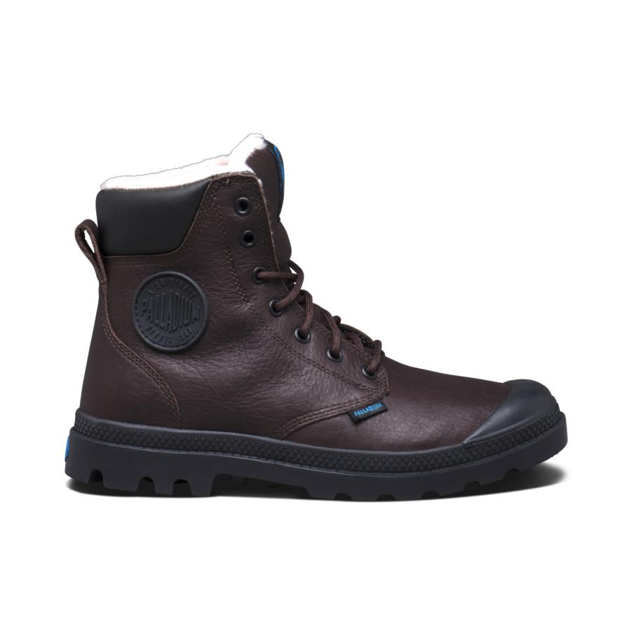 Palladium Pampa Sport Cuff WPS dunkelbraun Unisex Leder Stiefel Boots 72992229