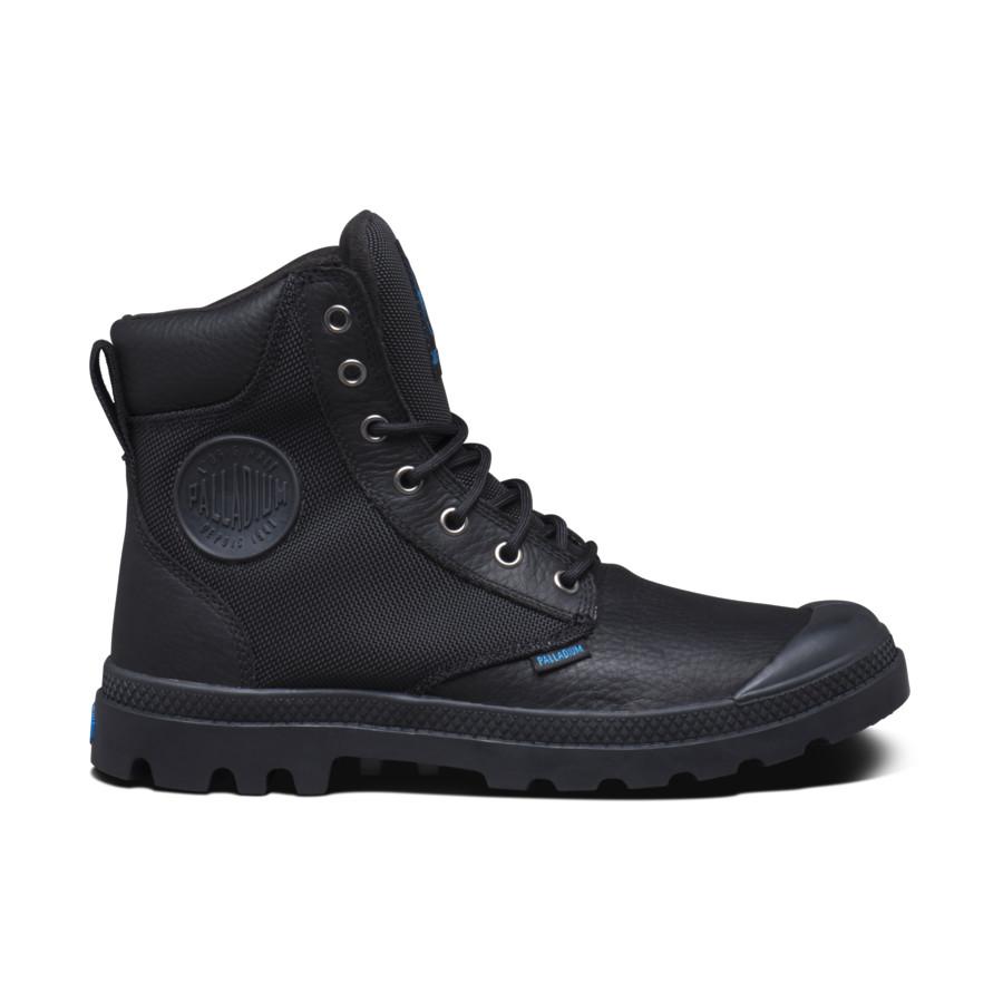 Palladium Pampa Sport Cuff WPN Black Unisex Leder Stiefel Gefüttert 73234001