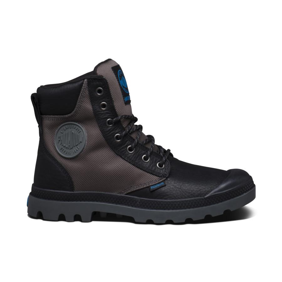 Palladium Pampa Sport Cuff WPN Schwarz Metall Unisex Leder Stiefel 73234068