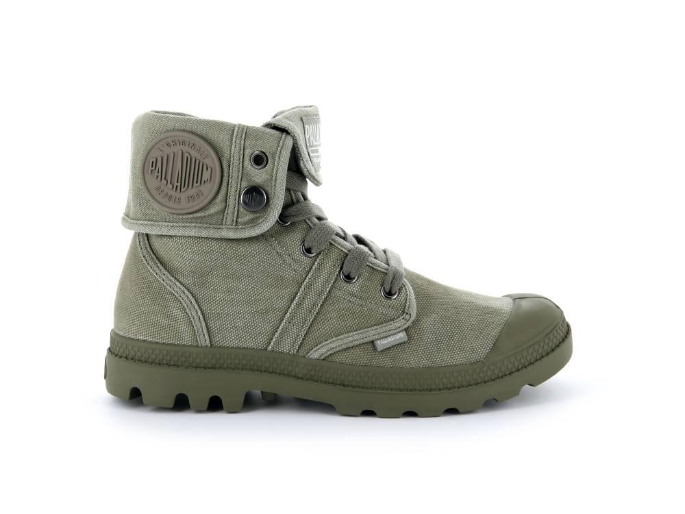 PALLADIUM Pallabrouse Baggy Sneaker Stiefellette olive grün Vetiver Burnt Damen