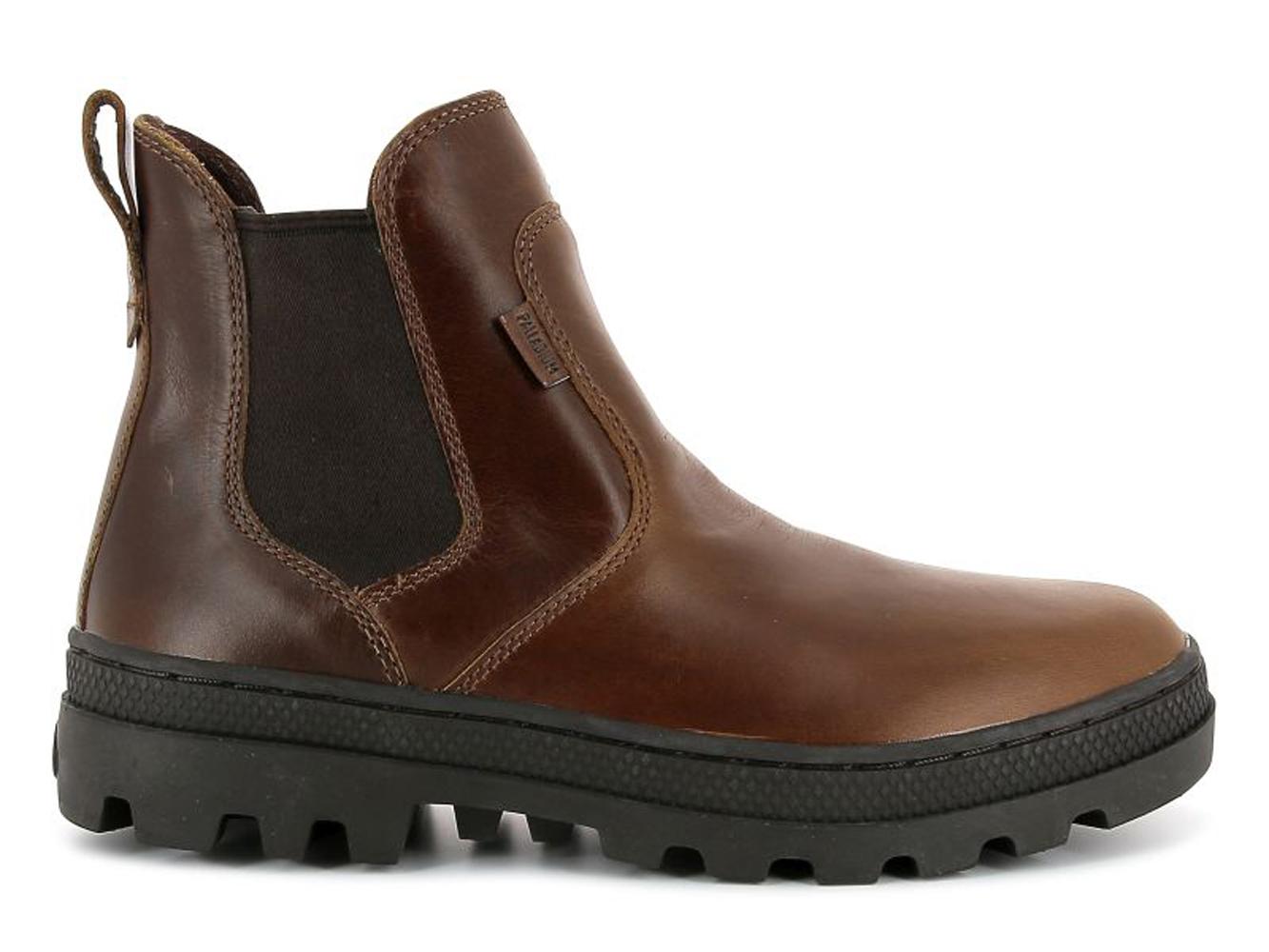 Palladium Pallabosse Hi Cuff L braun Stiefelette Stretch Boots Leder