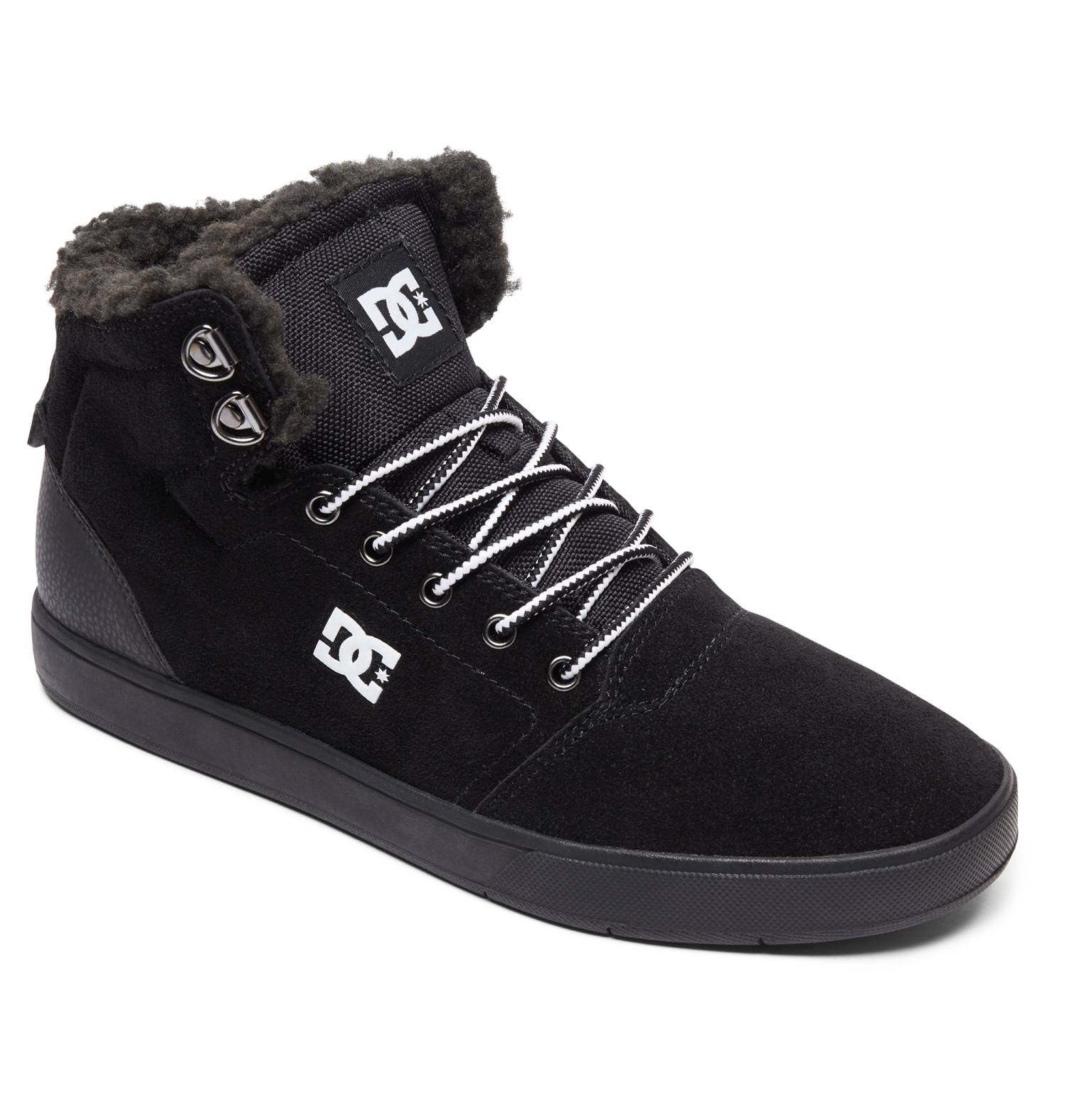 DC Shoes Crisis High Winter schwarz Black White Black Hi Sneaker Chukka Herren