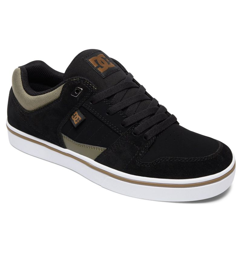DC Shoes Course schwarz olive Low-Cut Sneaker Skateschuhe Wildleder Canvas