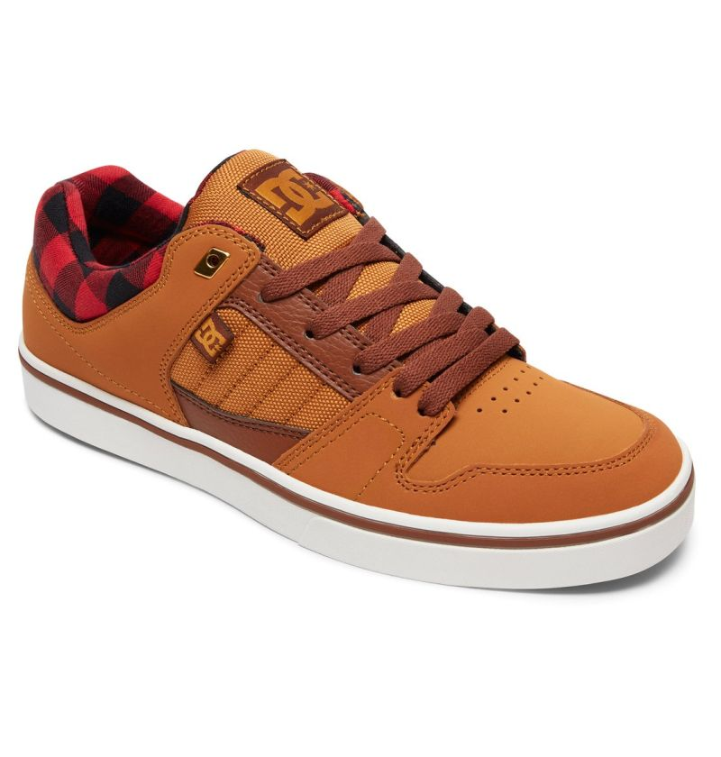 DC Shoes Course 2 SE beige braun rot Low-Cut Sneaker Skateschuhe Wildleder