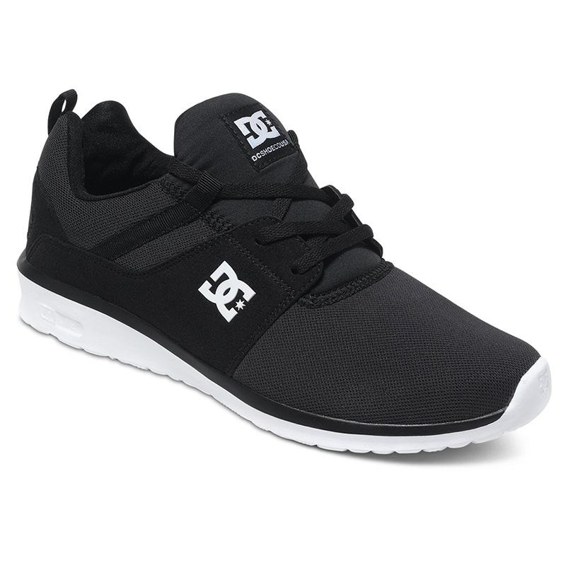 DC Shoes Heathrow Schwarz Weiß OrthoLite leicht Sneaker Schuhe ADYS700071/BKW