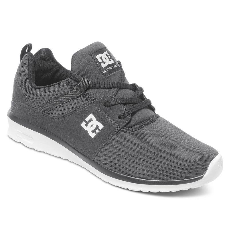 DC Shoes Heathrow Grau Pewter OrthoLite leicht Sneaker Schuhe ADYS700071/PEW