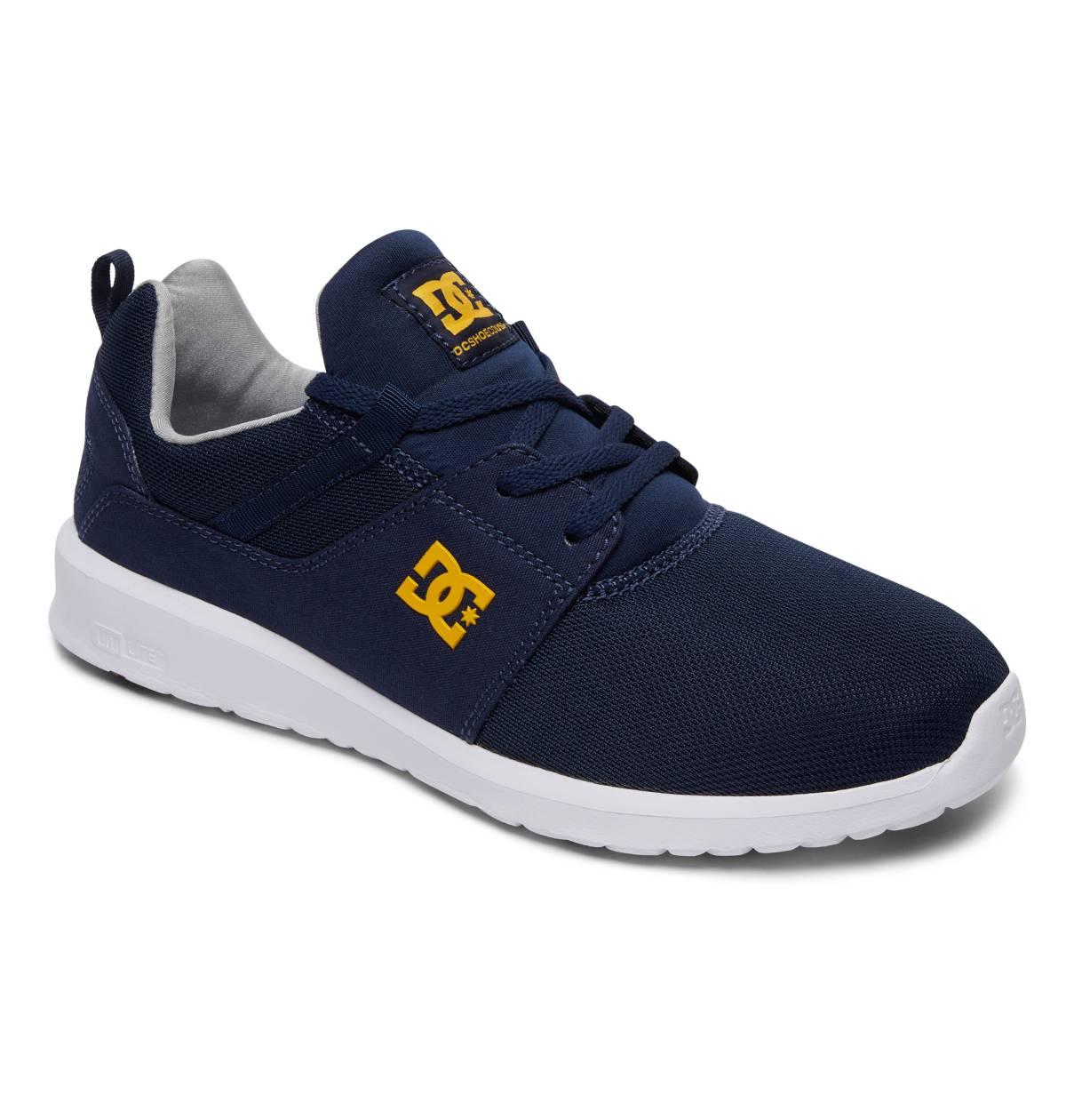DC SHOES Heathrow Low-Cut Sneaker Herren Schuhe Skateschuhe blau Navy Gold