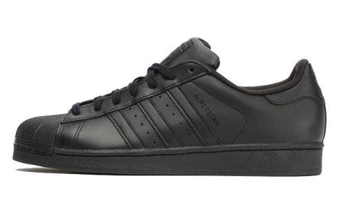 Adidas Superstar Foundation schwarz mono Leder Sneaker Skate Schuhe AF5666