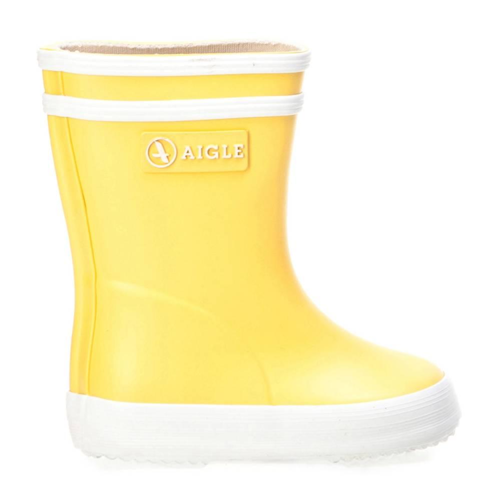 Aigle Baby Flac gelb weiß jaune blanc Schuhe Gummistiefel Jungen Mädchen Kinder