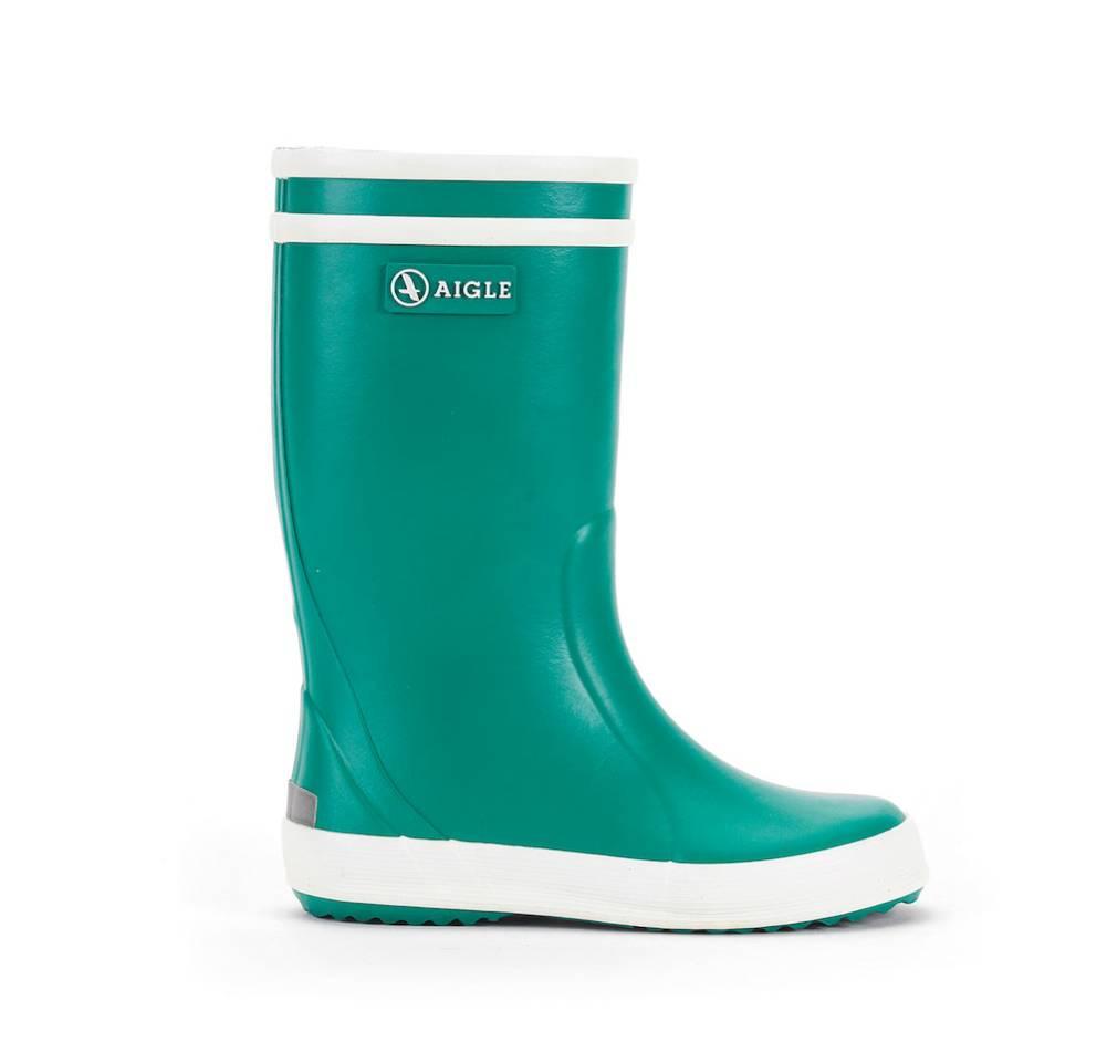 Aigle Lolly Pop grün buis Schuhe Gummistiefel Jungen Mädchen Kinder