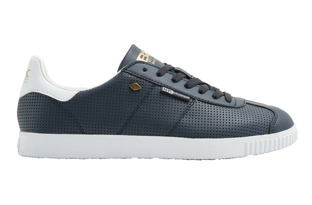 BRITISH KNIGHTS Point Sneaker blau navy white perforiert PU Schuhe Herren