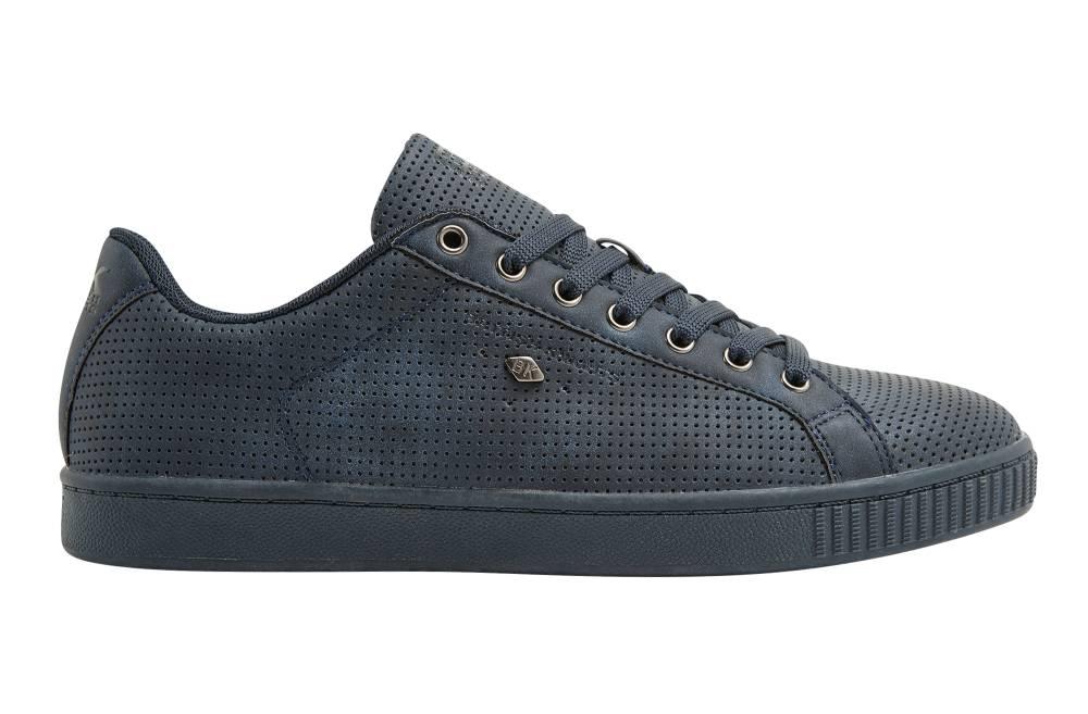 BRITISH KNIGHTS Duke Sneaker blau navy navy perforiert PU Schuhe Herren