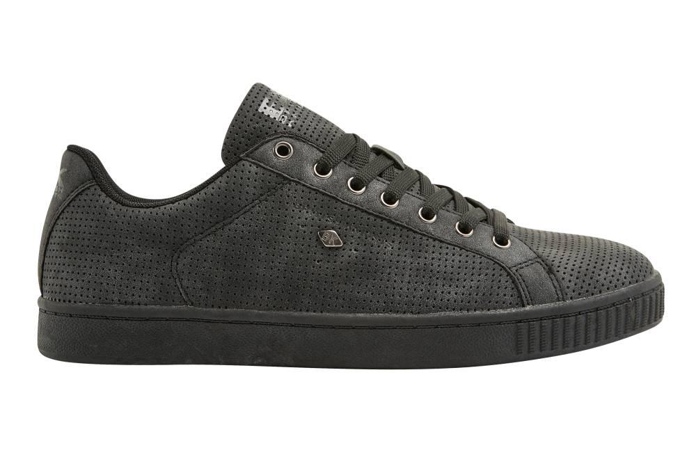 BRITISH KNIGHTS Duke Sneaker schwarz black black perforiert PU Schuhe Herren