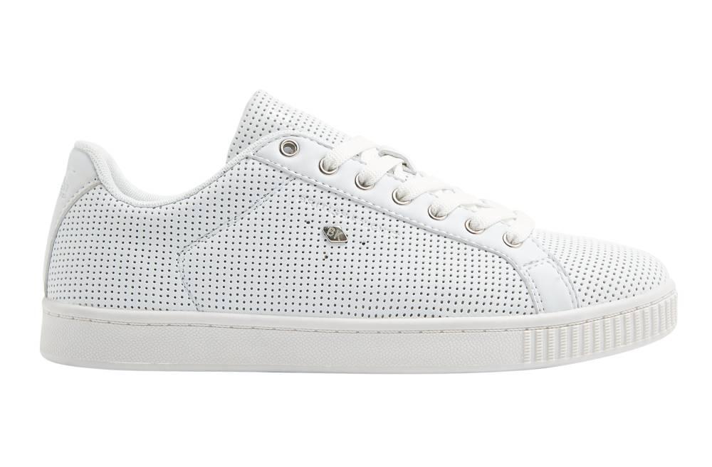 BRITISH KNIGHTS Duke Sneaker weiß white white perforiert PU Schuhe Herren