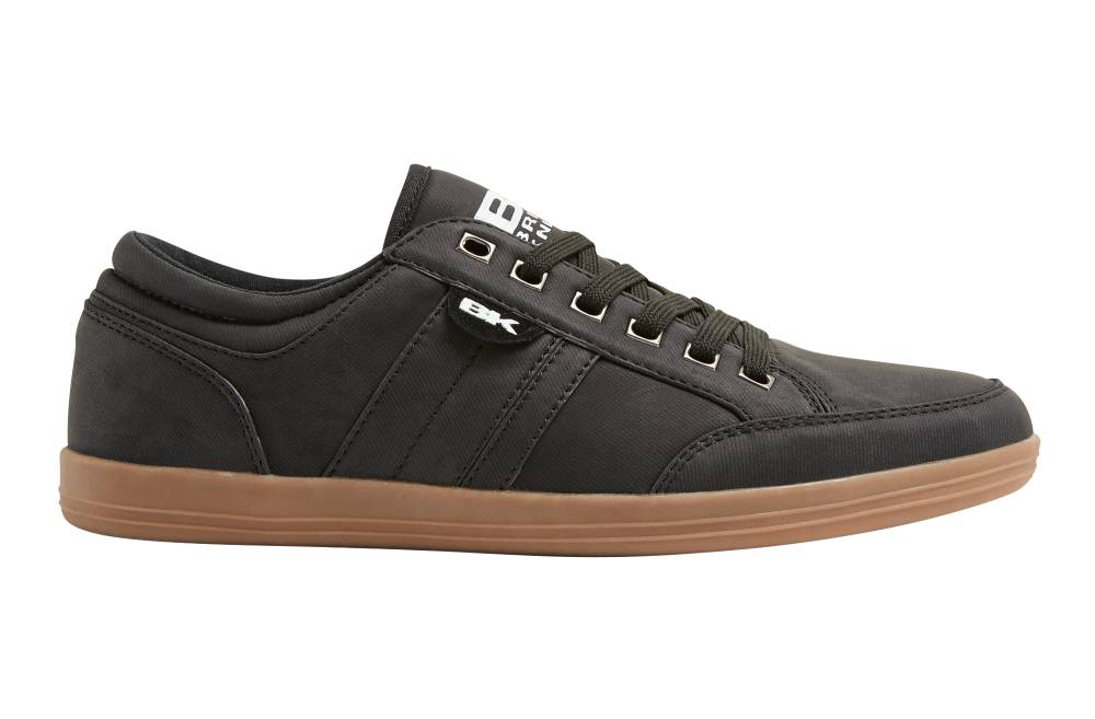 BRITISH KNIGHTS Kunzo Sneaker schwarz black crepe PU Schuhe Herren