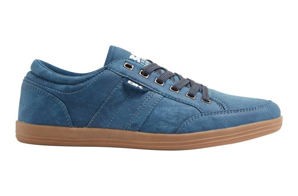BRITISH KNIGHTS Kunzo Sneaker blau navy crepe PU Schuhe Herren