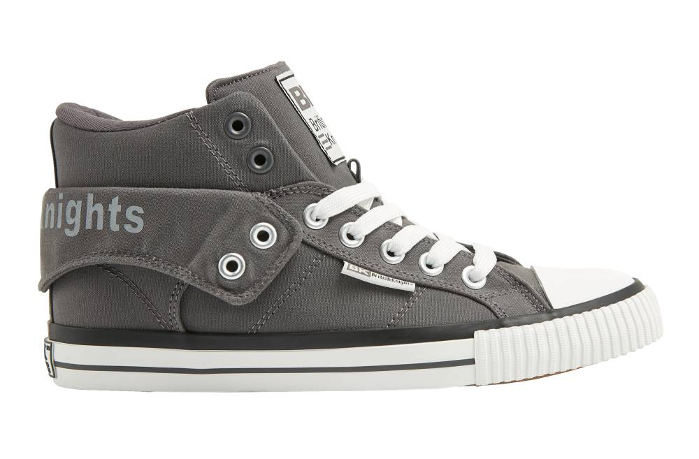 BRITISH KNIGHTS Roco Hi-Cut Sneaker dunkelgrau dark grey Canvas Schuhe Herren