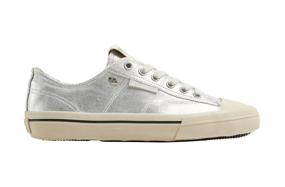 BRITISH KNIGHTS Chase Hi-Cut Sneaker silber silver Metallic Canvas Schuhe