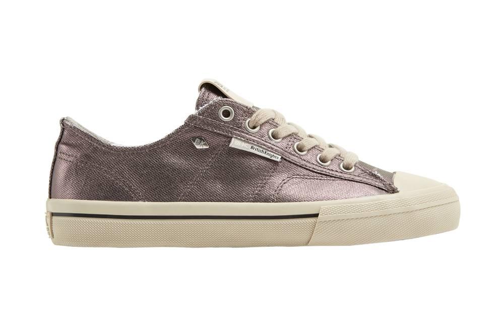 BRITISH KNIGHTS Chase Hi-Cut Sneaker dunkelgrau dark grey Metallic Canvas Schuhe